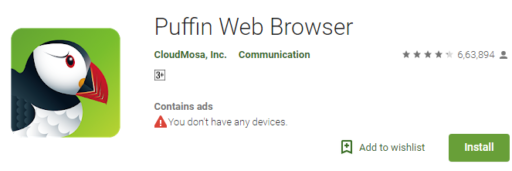Puffin Web Browser - Android Super Fast Internet Browser